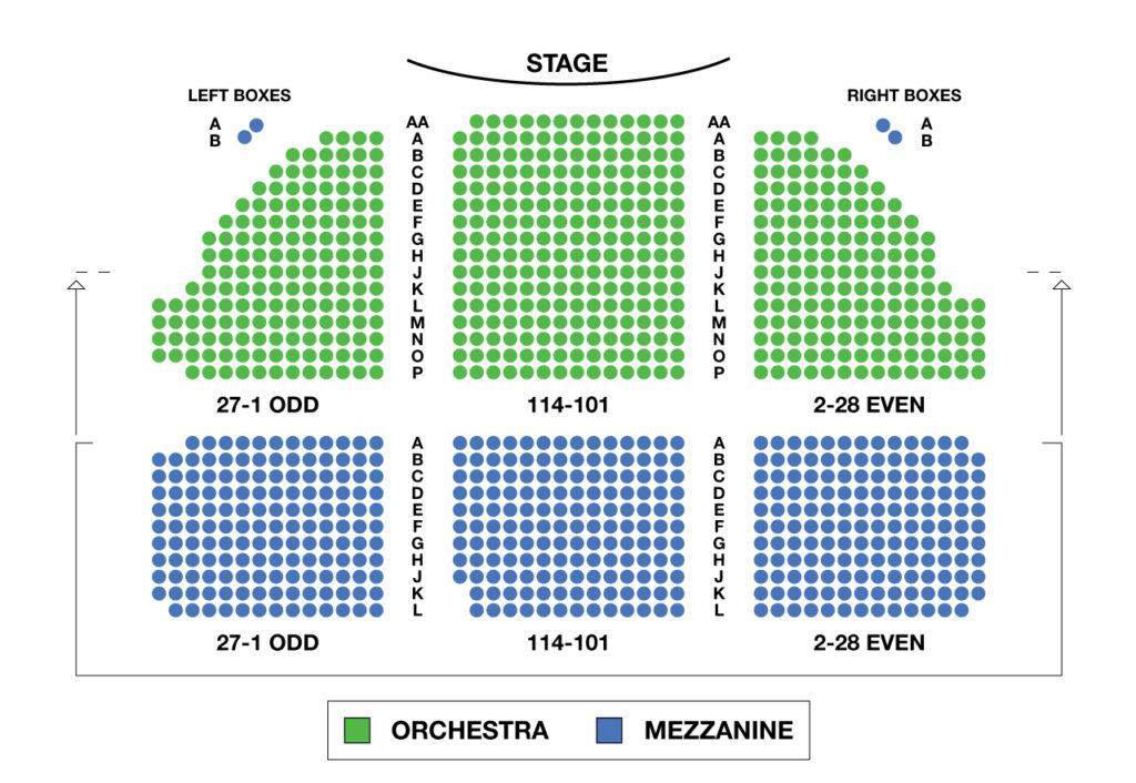 Music Box Theatre Seating Chart Nyc